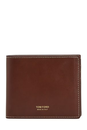 TOM FORD Men's Leather Wallet w/ Contrast Stitching