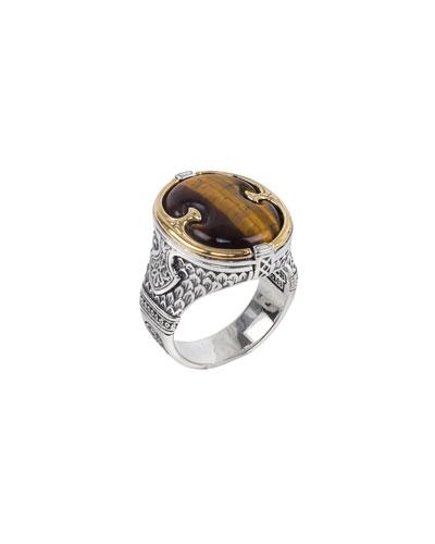 Men's Perseus Tiger's Eye Ring, Size 10