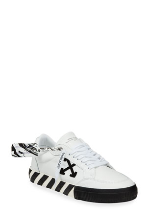 Off-White Men's Arrow Vulcanized Leather Sneakers