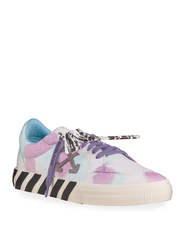 Arrow Tie-Dye Vulcanized Sneakers