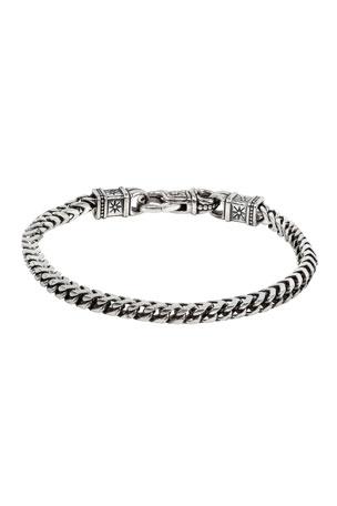 Konstantino Men's Sterling Silver Chain Link Bracelet, Size M