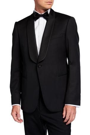 Emporio Armani Men's Fancy Shawl-Lapel Dinner Jacket