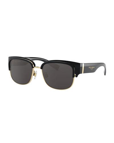 Men's Half-Rim Sunglasses