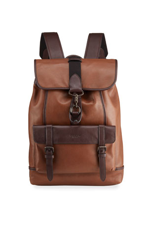 Coach Men's Two-Tone Leather Drawstring Backpack