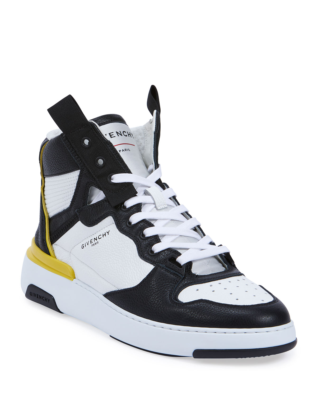 Wing Two-Tone Leather High-Top Sneakers