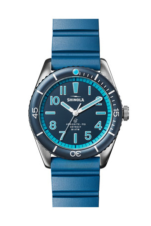 Shinola Men's 42mm The Duck Water-Resistant Watch w/ Rubber Strap