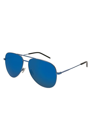 Saint Laurent Men's Classic Metal Aviator Sunglasses