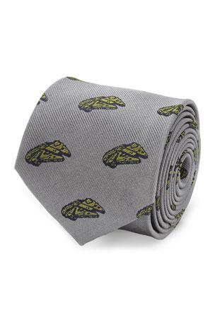 Cufflinks Inc. Men's Star Wars Millennium Falcon Silk Tie