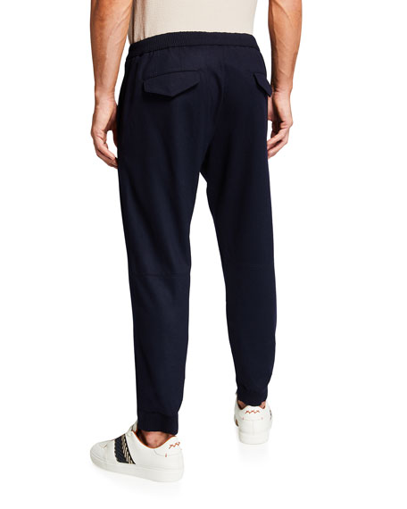 Image 2 of 3: Ermenegildo Zegna Men's Solid Wool Jogger Pants