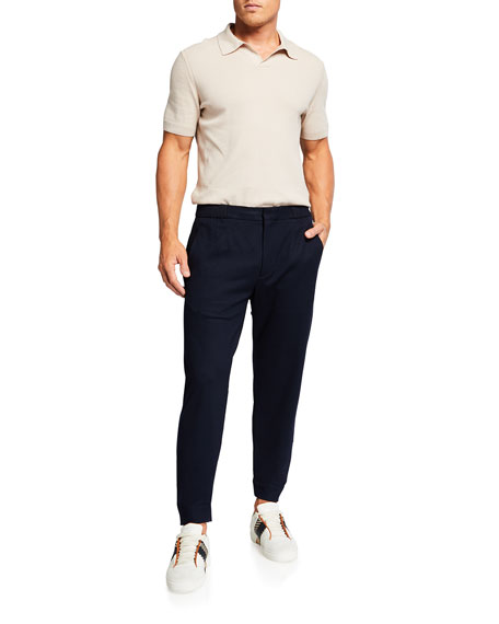 Image 3 of 3: Ermenegildo Zegna Men's Solid Wool Jogger Pants