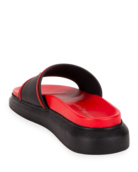 Two-Tone Rubber Slide Sandals