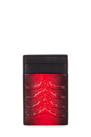 Alexander McQueen Men's Two-Tone Leather Card Holder