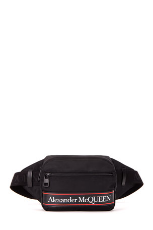 Alexander McQueen Men's Urban Leather-Logo Bum Bag