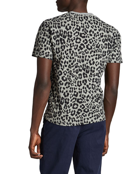 Image 2 of 2: Kenzo Men's Leopard-Print Cotton Tee