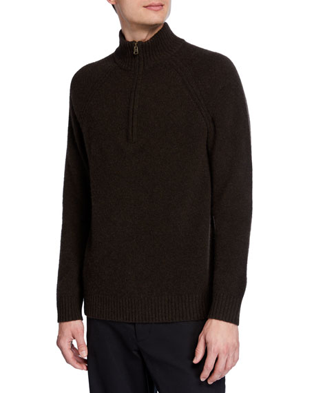 Vince Men's Quarter-Zip Yak/Merino  Sweater