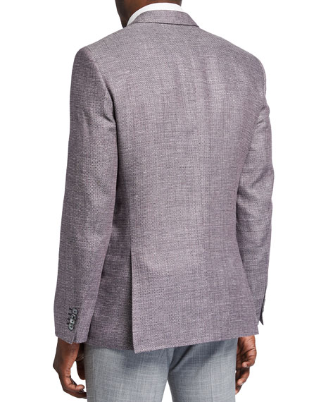 Image 2 of 3: BOSS Men's Slim-Fit Textured Knit Sport Jacket