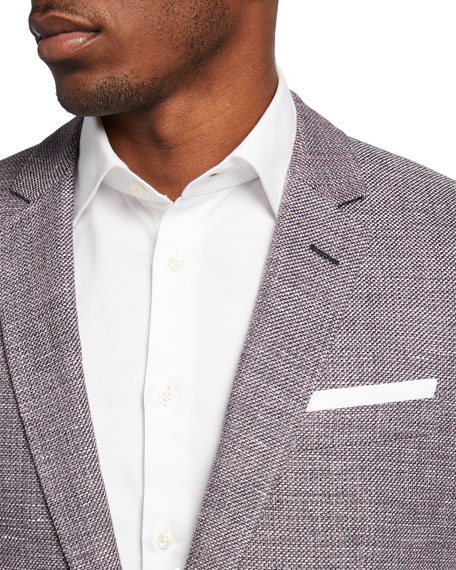 Image 3 of 3: BOSS Men's Slim-Fit Textured Knit Sport Jacket