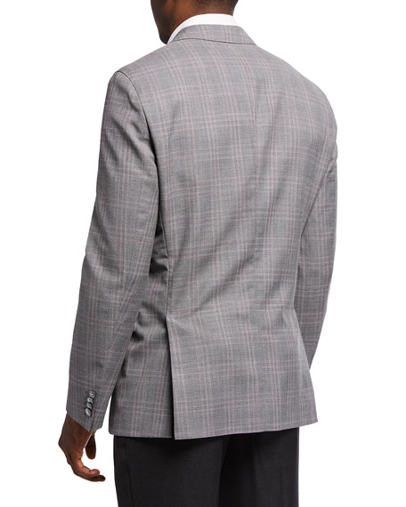 Image 2 of 3: BOSS Men's Check Wool Sport Jacket