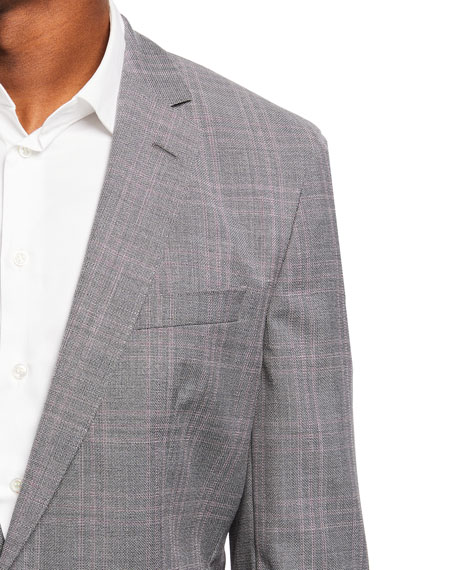 Image 3 of 3: BOSS Men's Check Wool Sport Jacket