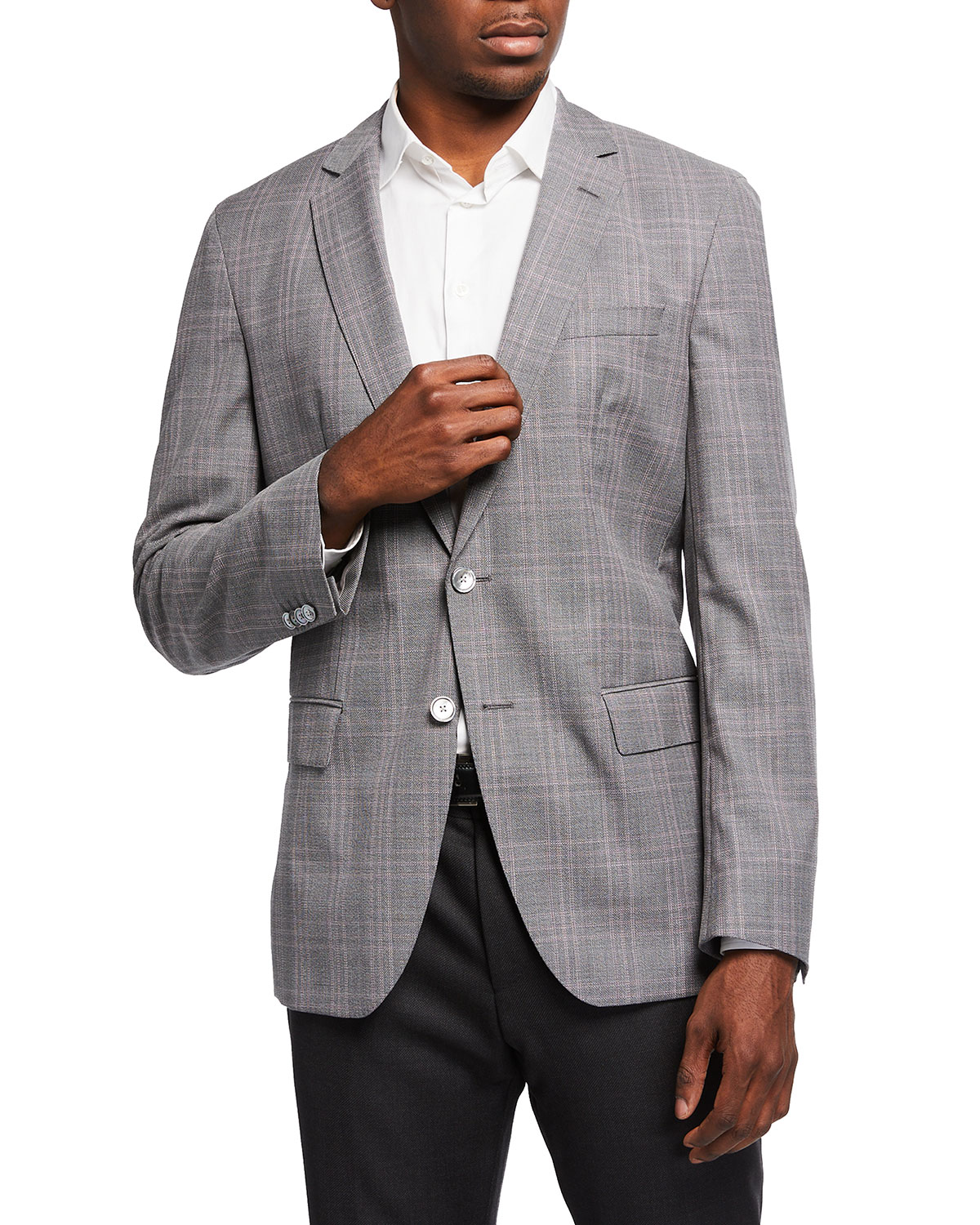 BOSS Men's Check Wool Sport Jacket
