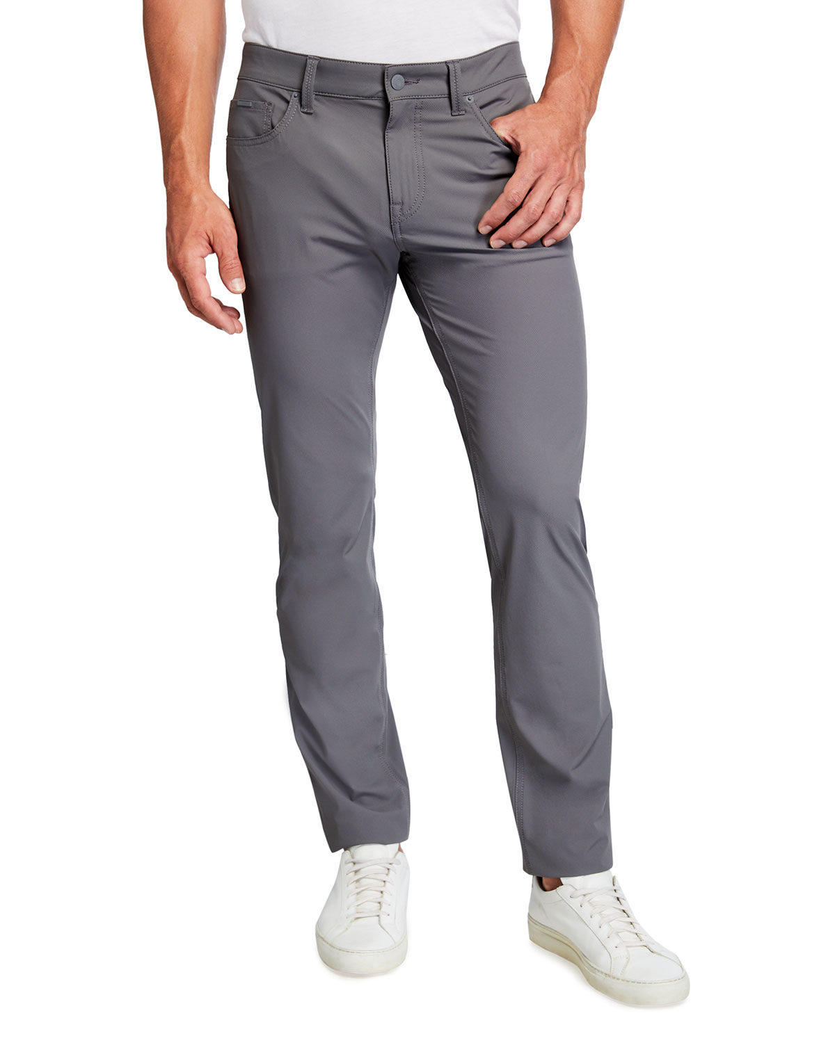 BOSS Men's Slim-Fit 5-Pocket Tech Pants