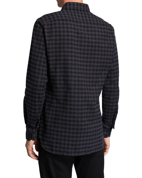 Image 2 of 2: Men's Check Sport Shirt