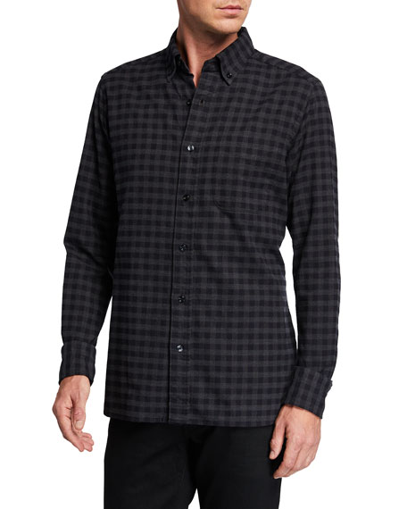 Image 1 of 2: Men's Check Sport Shirt