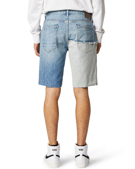 Image 2 of 2: Hudson Men's Reconstructed Cutoff Denim Shorts