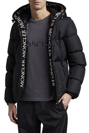 Moncler Men's Montcla Logo Lined Coat