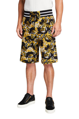Versace Jeans Couture Men's Logo Baroque Sport Sweat Shorts