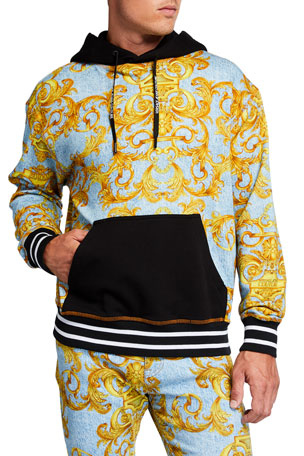 Versace Jeans Couture Men's Denim Baroque Sport Hoodie