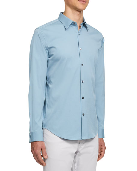 Image 2 of 2: Theory Men's Sylvain Cotton Sport Shirt
