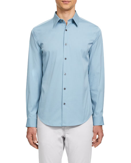 Image 1 of 2: Theory Men's Sylvain Cotton Sport Shirt