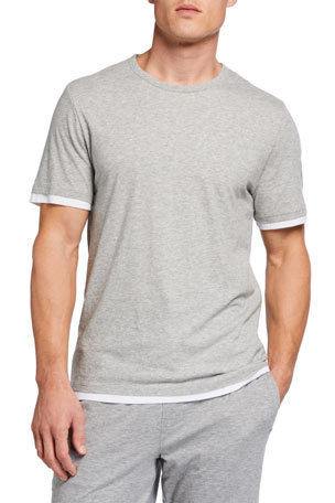 Vince Men's Double-Layer Crewneck Tee