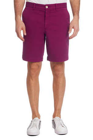 Robert Graham Men's Aldrich Stretch-Twill Flat-Front Shorts