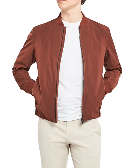 Image 4 of 4: Theory Men's Foundation Tech City Bomber Jacket
