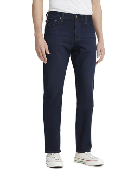 Image 1 of 2: AG Adriano Goldschmied Men's Everett Slim Dark-Wash Jeans