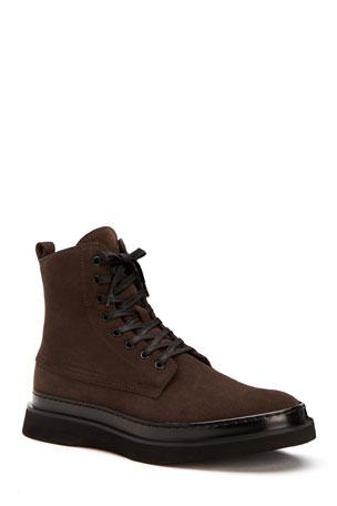 Aquatalia Men's Corbin Weatherproof Suede Derby Shoes