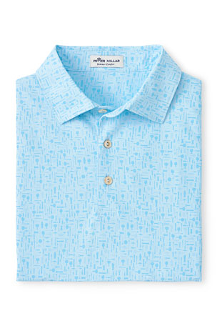 Peter Millar Men's Bar Tools Stretch-Jersey Polo Shirt