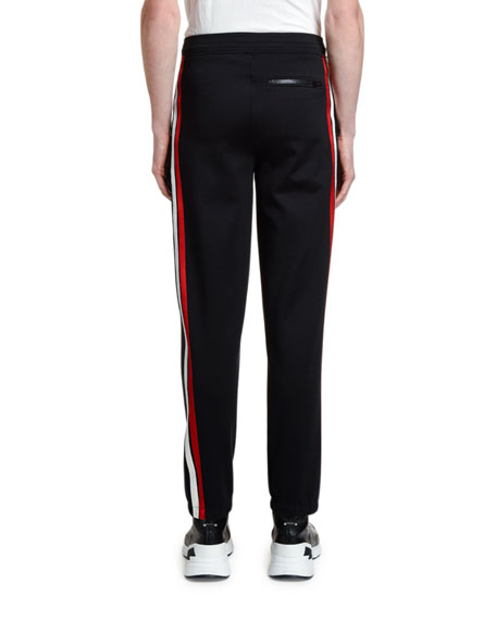 Image 2 of 3: Neil Barrett Men's Double-Stripe Jogger Pants