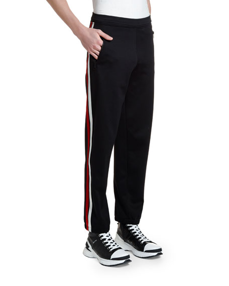 Image 3 of 3: Neil Barrett Men's Double-Stripe Jogger Pants