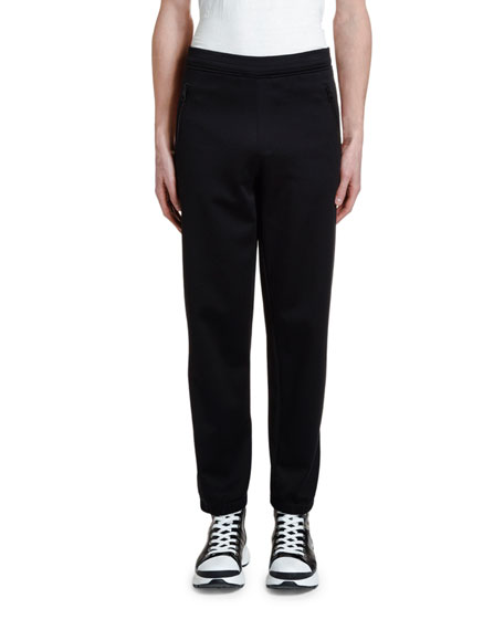 Image 1 of 3: Neil Barrett Men's Double-Stripe Jogger Pants
