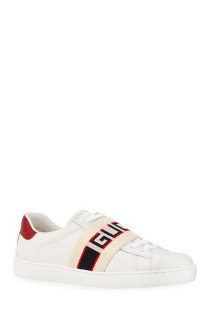 Gucci Gucci Stripe Leather Sneaker