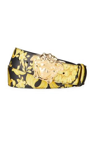 Versace Men's Medusa Reversible Leather Belt