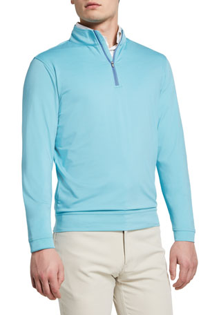 Peter Millar Men's Perth Quarter-Zip Jersey Sweater