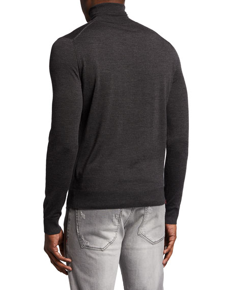 Image 2 of 2: Isaia Merino Wool Turtleneck Sweater