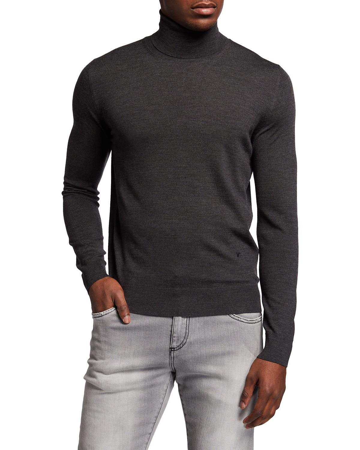 Isaia Merino Wool Turtleneck Sweater