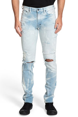 PRPS Men's Northfield Distressed 5-Pocket Jeans