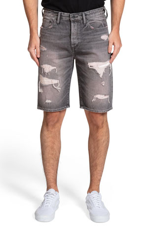 PRPS Men's Butler Distressed Cutoff Shorts