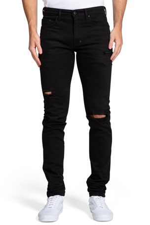 PRPS Windsor Distressed Black-Wash Skinny Jeans